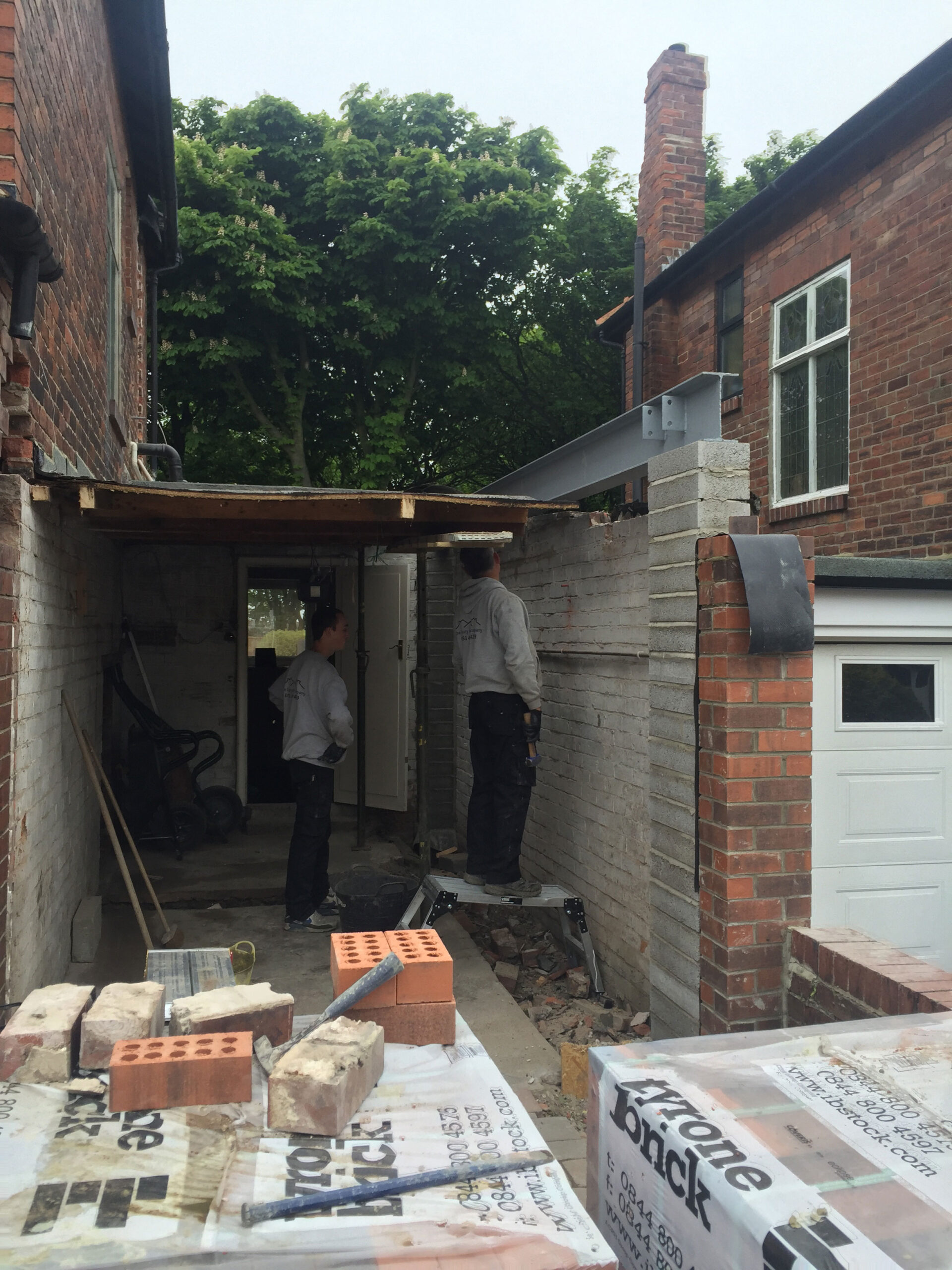 Bottom Floor of Extension in Progress in Newcastle