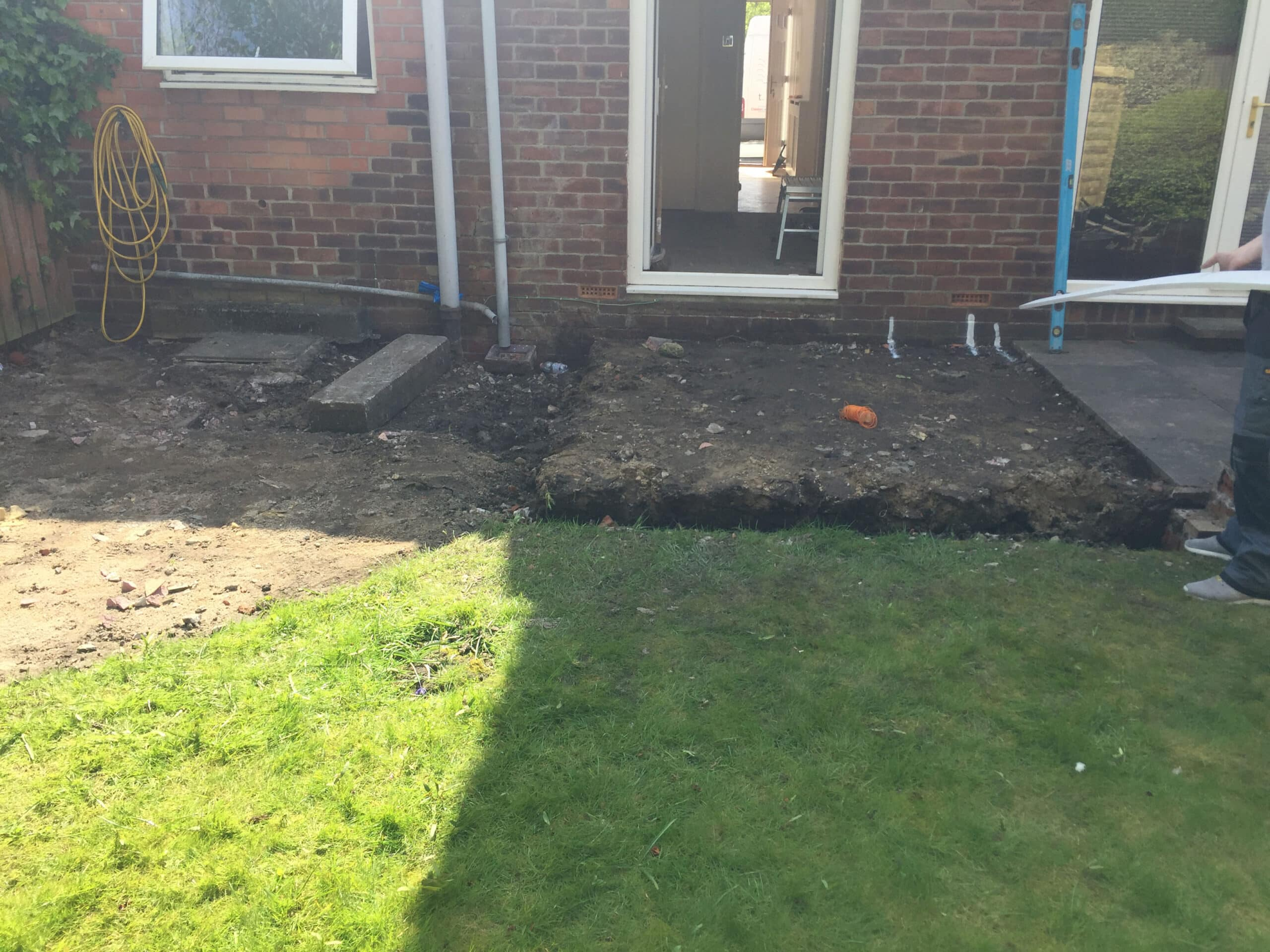 Garden Work Being Done Ready for Extension in Newcastle